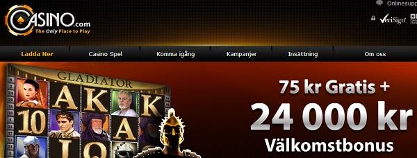 Casino.com free spins 100 kr gratis