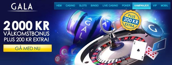 Casino Bonus på Gala Casino