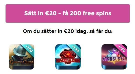 Casino Saga 200 free spins